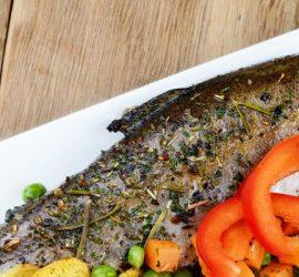 maridaje pescado horno