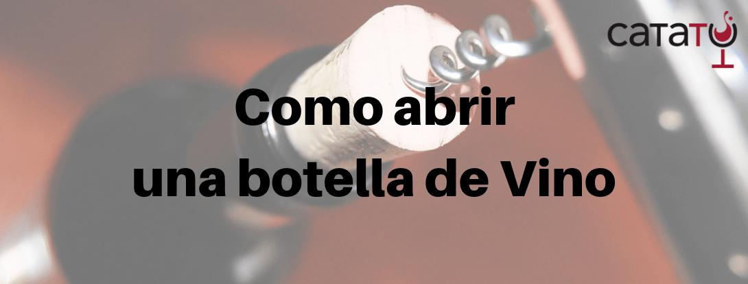 Cómo Abrir Una Botella De Vino Paso A Paso