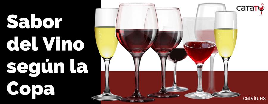 sabor del vino segun la copa