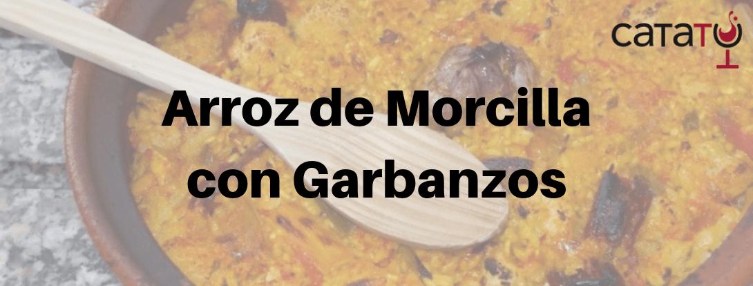 Receta De Arroz De Morcilla Y Garbanzos, Con Un Buen Somontano.